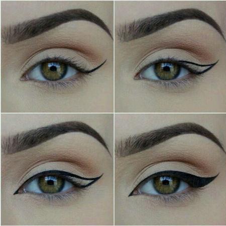 макияж cat eyes