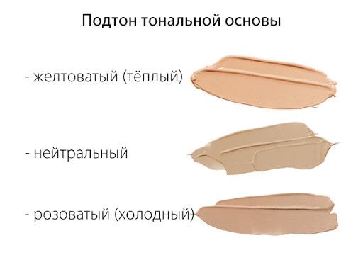 оттенок тонального крема